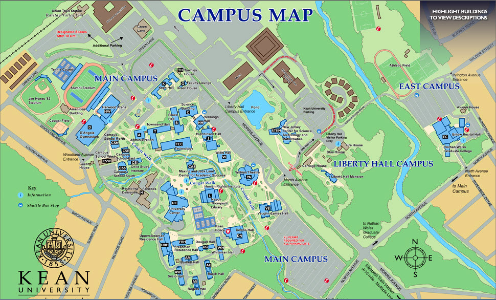Kean University Address >> Kean Fire Safety Kean University Campus Map